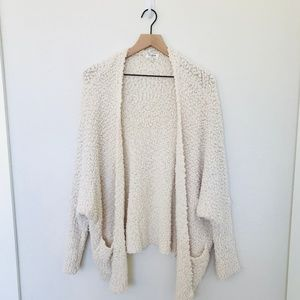 Umgee Cream textured Sweater Cardigan Size Large